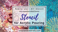 Stencil for Acrylic Pouring – Two Ways to Use + DIY Stencil Make Your Own Stencils, Cool Stencils, Stencil Diy, Stenciling, Acrylic Pouring Techniques, Acrylic Pouring Art, Acrylic Art, Painting Techniques, Acrylic Paintings