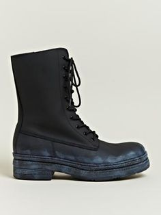 Yohji Yamamoto Men's Leather Engineer Boots | LN-CC