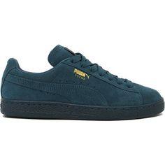 11b60334daaf2 Puma Suede Classic + Mono Iced Sneakers - Blue Coral Puma Wildleder,  Damenschuhe, Blau