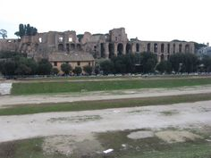 Remains of the Domus Augustana & the palace of Septimius Severus, Rome, Italy.