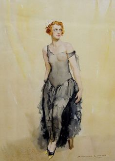 KAB Gallery | Doreen (The Grey Dress) 1932 - Norman Lindsay