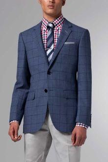 The Ultimate Premium Slate Blue Check Wool Blazer | Indochino