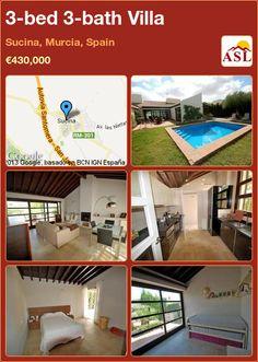 3-bed 3-bath Villa in Sucina, Murcia, Spain ►€430,000 #PropertyForSaleInSpain