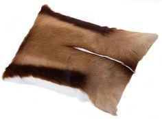 Springbok Cushion 40 x 60 South African Design, 60 Fashion, Black Leather, Cushions, Throw Pillows, Brown, Pillow Ideas, Handmade, Bags
