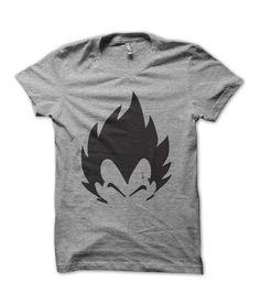 Redwolf Grey Dragon Ball Z- Vegeta Silhouette Printed T-Shirt