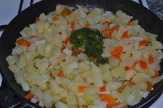 Mi Diversión en la cocina: Tortilla de Patatas con Pimiento y salsa de Ajo y Perejil