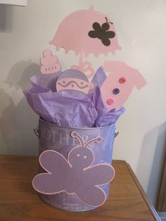 butterfly baby shower centerpiece