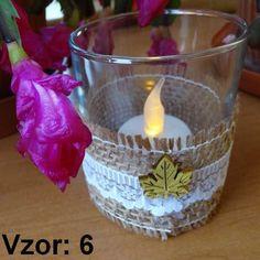 Sklenený svietnik Jarko - Sviečka - S čajovou sviečkou LED (plus 1€), Vzor - Vzor 6