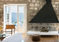 Stone and Wood Home by Steven Harris Architects, Remodelista