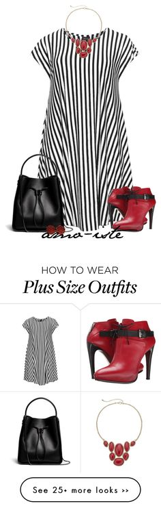 """Stripes - Plus Size"" by amo-iste on Polyvore featuring Choise, COSTUME NATIONAL, 3.1 Phillip Lim, Sonoma life + style and Ciner"