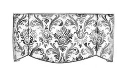 Soft Valance with Pleats. Creativity with scallops, contrast inserts and pleat placement can make the fabric and window the focal point of your room. Suitable fabrics: Medium to heavy-weight fabrics such as soft chenilles, velvets and tapestries.