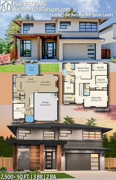 Architectural Designs Exclusive House Plan 85239MS | 3 beds | 2.5 baths | 2,500+ Sq.Ft.| Ready when you are! Where do YOU want to build? #85239MS #adhouseplans #architecturaldesigns #houseplan #architecture #newhome #newconstruction #newhouse #homedesign #dreamhouse #homeplan #architecture #architect #houses #homedecor #northwesthome #nortweststyle #southernliving
