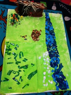 One of my favourite books is We're going on a bear hunt by Michael Rosen. We set up the sand to represent the scenes in the story and the c. Kindergarten Literacy, Early Literacy, Preschool, Childcare Activities, Book Activities, Map Nursery, Nursery Rhymes, Animals That Hibernate, Michael Rosen