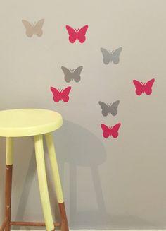 Butterflies Removable vinyl wall decals. Interior design • kids rooms • nursery • girls rooms • boys rooms Removable Vinyl Wall Decals, Girl Nursery, Kids Rooms, Girl Room, Boys, Girls, Butterflies, Interior Design, Home Decor