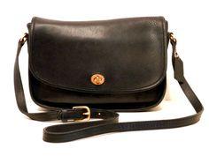 Coach City Cross Body Bag // Courier Black Leather