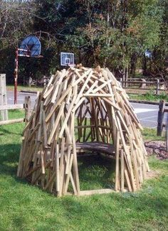 build a beaver dam for kids to play in
