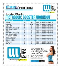 Pauline Nordin's Metabolic Booster Workout - Live Life Lean w/ High Intensity Resistance Training