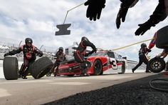 Ty Dillon, driver of the #3 Rheem Chevrolet, comes in for a pit stop during the NASCAR XFINITY Series Ollie's Bargain Outlet 200 at Dover International Speedway in Dover, Delaware.