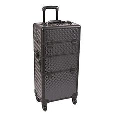 Sunrise Outdoor Travel Black Diamond Trolley Makeup Case - I3461 >>> Find out more about the great product at the affiliate link Amazon.com on image.