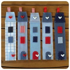 Bookmarks for kids. Scrap Fabric Projects, Fabric Crafts, Sewing Crafts, Sewing Projects, Craft Projects, Projects To Try, Paper Crafts, Book Crafts, Felt Crafts