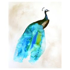 Off Sale - Peacock Painting - Feather - Bird Wall Art Watercolor - Peacock II - Large Print - Poster via Etsy Animals Watercolor, Watercolor Peacock, Peacock Painting, Peacock Art, Watercolor Print, Watercolor Paintings, Peacock Design, Watercolors, Peacock Colors