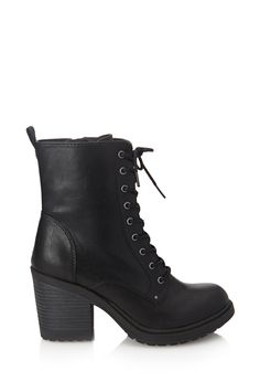 Lace-Up Combat Boots - 2000102182 (Just bought these, but of a much nicer quality. Diba Pilot Bootie at DSW. High Heel Combat Boots, Combat Boot Outfits, Black Combat Boots, Dr Shoes, Crazy Shoes, Cute Shoes, Converse Shoes, Trendy Shoes, Casual Shoes