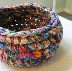 Upcycled sheet crochet