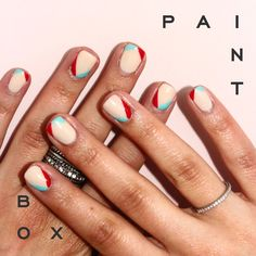 Point Break - Paintbox SS'15 Collection #paintboxmani #nailart