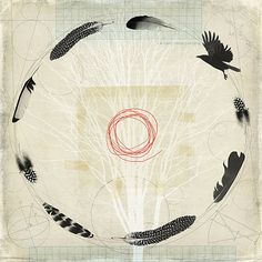 flight path by fiona watson art, Artist Study , circles , Art Featuring Circles… Spiritus, Feather Painting, Bird Art, Oeuvre D'art, Printmaking, Illustration Art, Creations, Sketches, Abstract