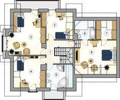 DOM.PL™ - Projekt domu Mój Dom Leopold CE - DOM BM2-44 - gotowy koszt budowy Floor Plans, Floor Plan Drawing, House Floor Plans