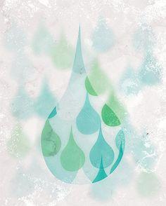 Abstract Rain Drop Wall Art Digital Print Bathroom by revigorer, Weather Icons, Bath Art, Rain Drops, Digital Prints, Bathroom, Abstract, Wall, Vintage, Etsy