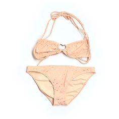 Pre-owned Victoria's Secret Two Piece Swimsuit (5.100 HUF) ❤ liked on Polyvore featuring swimwear, bikinis, coral, two piece bathing suits, swimsuits bikinis, coral bikini, 2 piece bikini and bathing suits bikini