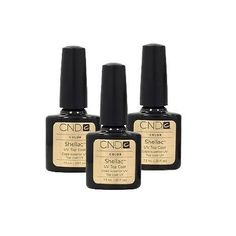 LOT 3 CND Shellac TOP COAT Gel UV Creative Nail Polish 0.25 oz Manicure Soak Off ** See this great product.