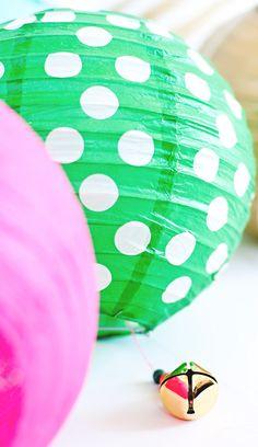 Paper lantern party bells