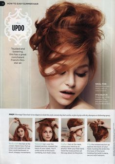 Updo hair tutorial.