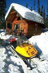Winter Cabin Snowmobiling Brooks Range Alaska