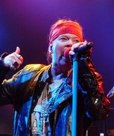 Axl Rose with Guns N Roses