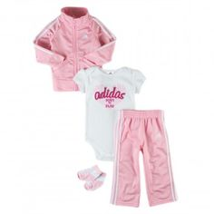 Baby's clothes! Adidas Babygirls 4-Piece Tracksuit Set - $40.00