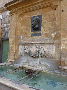Fontaine Espéluque 15ème siècle Aix en Provence