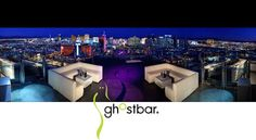 The Ghost Bar Nightclub - On the 55th floor of the Palms Hotel and Casino Las Vegas Nevada. This is the place to see and be seen with an unparalleled view of the strip