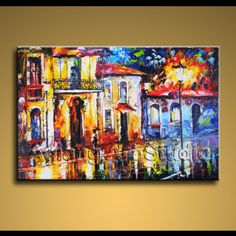 Original Modern Oil Painting Palette Knife Impression   eBay