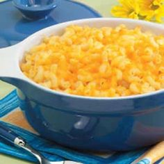 Triple-Cheese Macaroni Recipe 1 package (16 ounces) elbow macaroni,cooked, 2 eggs, 1 can (12 ounces) evaporated milk,1/4 cup butter, melted,2 tablespoons prepared mustard,1 teaspoon seasoned salt,1 teaspoon pepper,8 oz Velveeta, melted,2 c shredded mild cheddar cheese,2 cups shredded sharp cheddar cheese, Directions  Mix all together. Pour into 13x9 dish. Bake, uncovered, at 350° for 25-30 minutes