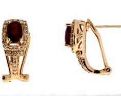 Genuine 1.60ct ruby diamond earring 14KT rose gold
