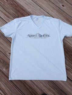 Nauti Ladiez Ice Blue Short Sleeve V-Neck