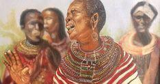 Samburu mamas by Eddie Ochieng Kenyan Artists, Celebrities, Painting, Celebs, Painting Art, Paintings, Painted Canvas, Celebrity, Drawings