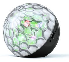 Enjoy unique audio / visual experiences with this Disco Speaker! The LED lights respond to sound, instantly creating a disco or club atmosphere wherever you are. Compatible with all phones and tablets that have Bluetooth functionality.