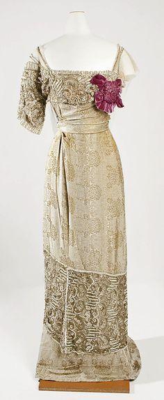 Evening dress, ca. 1910