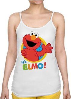 its Elmo Kendin Tasarla - Bayan İnce Askılı Atlet