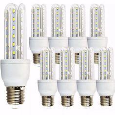kit 10 lampada led 12w bivolt 3u lampadas soquete e27 eletro