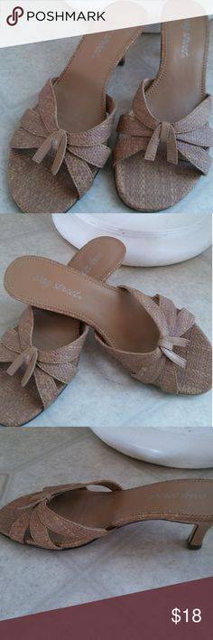 Sandals Tan BRAND NEW NEVER WORN sandals with a slight heel. About 1 inch. Made by easy street Shoes Sandals